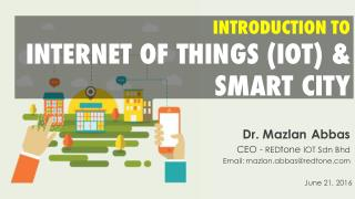 Introduction to IOT & Smart City
