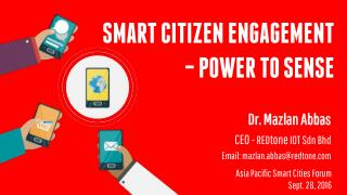 Smart Citizen Engagement - Power to Sense