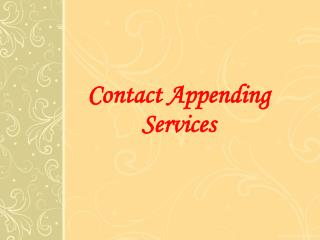 Contact Appending | B2B Email Experts