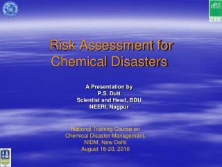 Risk Assessment for Chemical Disasters