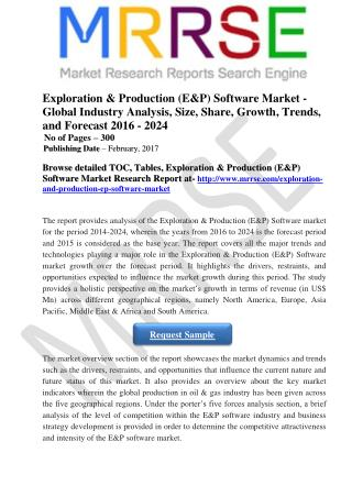 Exploration & Production (E&P) Software market growth over the forecast period.