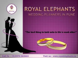 Wedding planners in Pune-Royal Elephants Pune