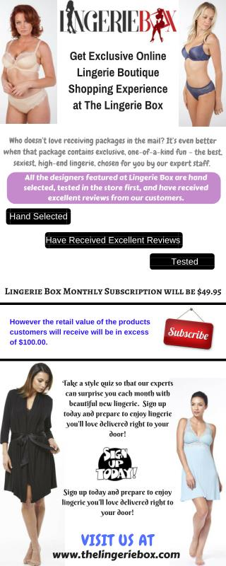 Lingerie Box -  An Exclusive Online Lingerie Boutique Shopping Experience