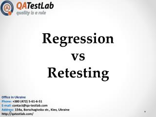 Regression vs Retesting