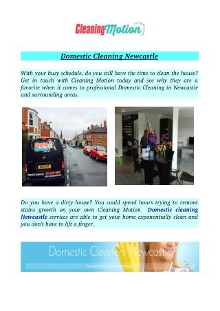 Domestic Cleaning Newcastle