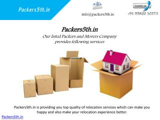 Packers5th.in Happy Moving Loading and unloading Services