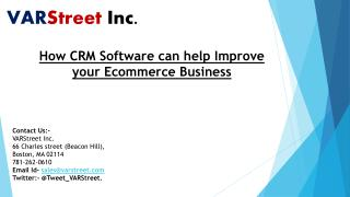 How CRM Software can help Improve your Ecommerce Business