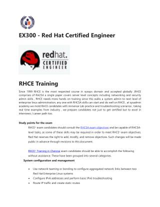 EX300 - Red Hat Certified Engineer Course Guides