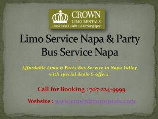 Limo Service in Napa Valley