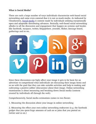 What is Social Media and its benifits