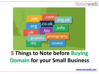 5 Things to Consider before Buying a Domain name for your Business