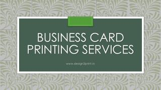 Leading Business Card Printing Service Provider