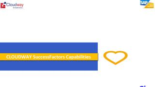 CLOUDWAY SuccessFactors Capabilities