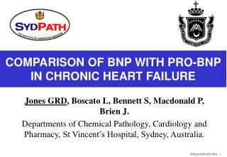 COMPARISON OF BNP WITH PRO-BNP IN CHRONIC HEART FAILURE