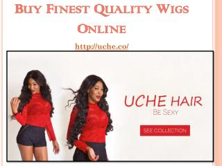 Buy Finest Quality Wigs Online