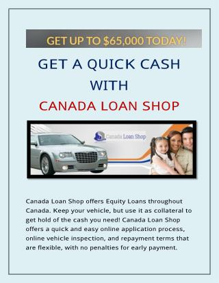 Car Title Loans in Ontario