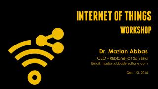 Internet of Things Workshop