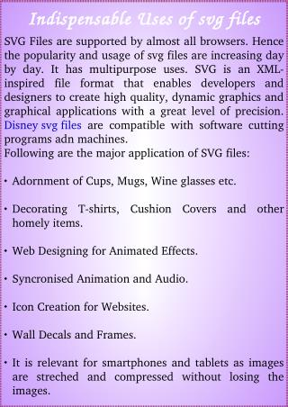 Indispensable Uses of svg files