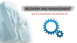 Computer Data Recovery and Management
