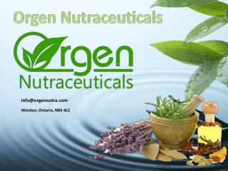 Ayurvedic Products Canada - Orgen Nutraceuticals