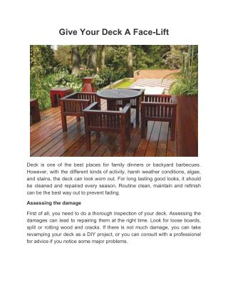 Give Your Deck A Face-Lift