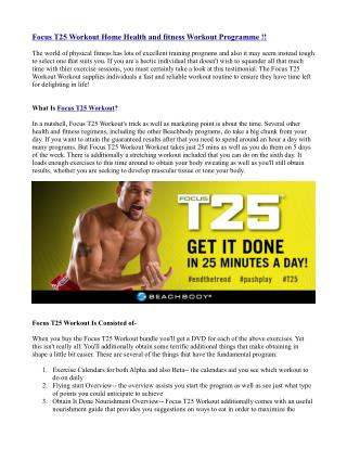 Focus T25 Workout Home Health and fitness Workout Programme !!