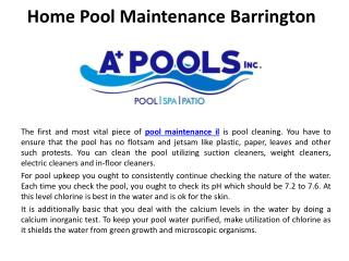 Home pool maintenanceBarrington