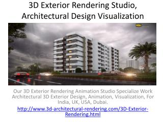 3D Exterior Rendering Studio, Architectural Design Visualization