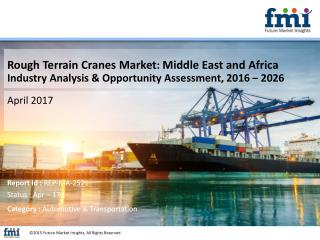Middle East and Africa Rough Terrain Cranes Market to worth US$ 247.4 Mn by 2026 End