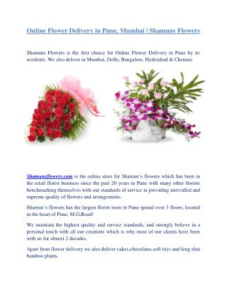 Online Flower Delivery in Pune, Mumbai | Shamuns Flowers