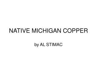 NATIVE MICHIGAN COPPER