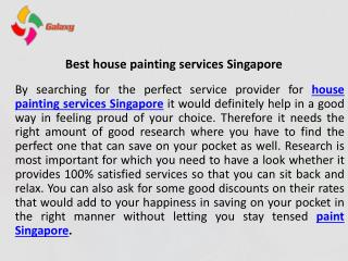 Best House Painting Services In Singapore