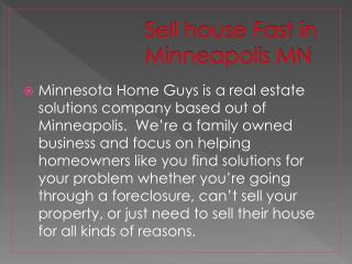Sell Your House Fast in Minneapolis MN