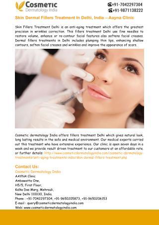 Skin Dermal Fillers Treatment In Delhi - Aayna