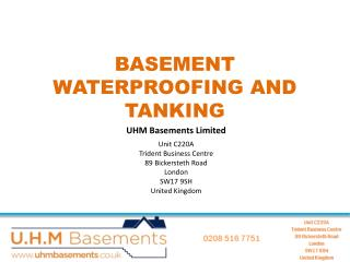 A London Basement Company for Waterproofing
