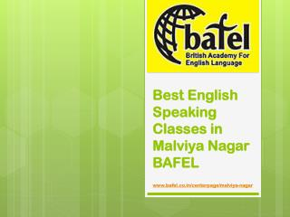 Best English Classes in Malviya Nagar