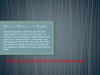 Dubai relocation company