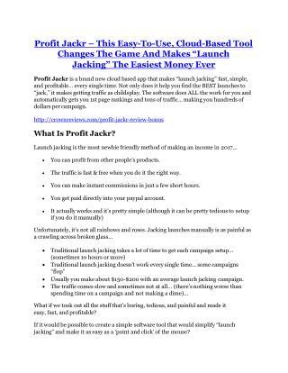 Profit Jackr review-SECRETS of Profit Jackr and $16800 BONUS