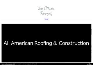 Looking For The Popular Roof Repair in Atlanta