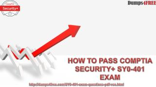 Latest CompTIA Security  SY0-401 Real Exam Questions With Verified Juniper CompTIA Security  SY0-401 Question Answers Av