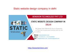Static website design company in delhi