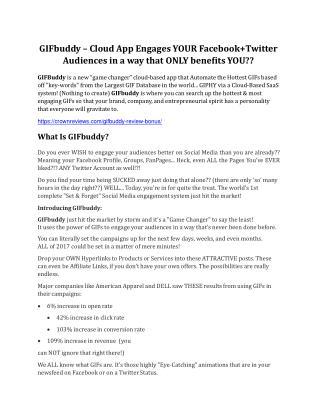 GIFBuddy review - EXCLUSIVE bonus of GIFBuddy