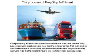 The Processes of Drop Ship Fulfillment