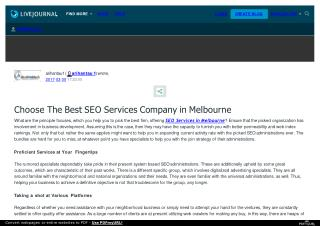 Looking For Best Seo Services in Melbourne