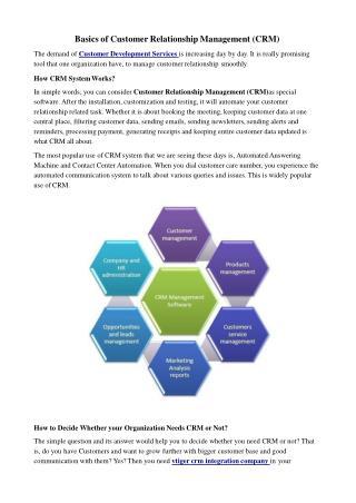 Basics of Customer Relationship Management (CRM)