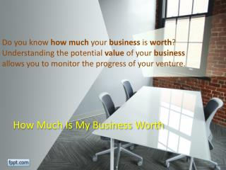 How Much Is My Business Worth