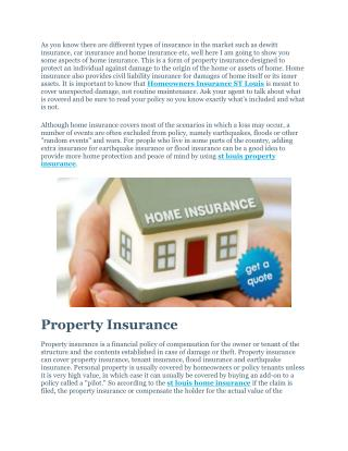 Homeowners Insurance ST Louis