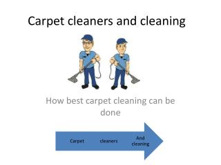 carpet cleaning and cleaners