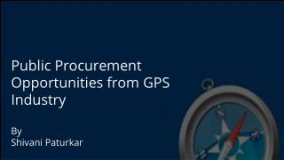 GPS Global Government Tenders Opportunities