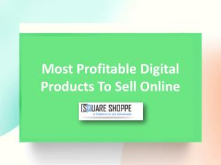 Most Profitable Digital Products to Sell Online